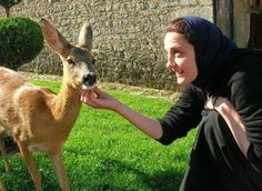 Photos from Eastern Orthodox monks and nuns with animals!