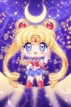 In the Name of the Moon . by MagicalHelen on DeviantArt Sailor Moon Crystal, Sailor Moon Fan Art, Sailor Moon Usagi, Sailor Moon Character, Kawaii Art, Kawaii Anime, Sailor Moon Wallpaper, Chibi Wallpaper, Saylor Moon