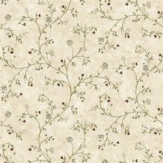 Neutral Wildflower Trail Wallpaper