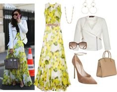 """Lemon Dress"" by chileez ❤ liked on Polyvore"