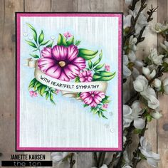 The Ton's Spring 2017 Release – Day 2   Janette Kausen  Creative Details: The Ton Stamps - Wildflower Banner. Prismacolor Premier pencils.    Follow Me on IG: https://www.instagram.com/janettekausen/    Follow Me on FB: https://www.facebook.com/creativeblisswithjanettekausen