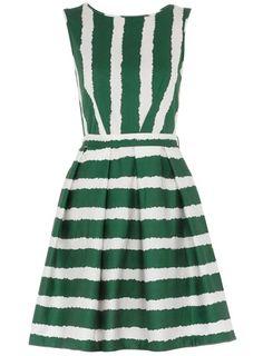 stripe dress - green