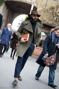 Angel Bespoke, Pitti Uomo, men's street style