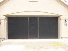 Lifestyle garage door screens from Cool Screens Texas 970 531 0150