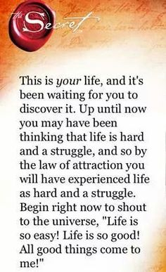 The law of attraction.
