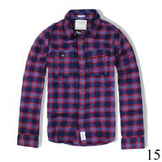 Camisa Flanelada Abercrombie Masculina Original dos EUA - CFMLAFM-90011 Abercrombie Men, Button Down Shirt, Men Casual, Plaid, Mens Tops, Shirts, Shopping, Women, Fashion