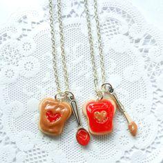 You're the peanut butter to my jelly sandwich :)  #peanutbutter #jelly #necklace #bff #friends #jewelry #jewellery #handmade #food #zibbet