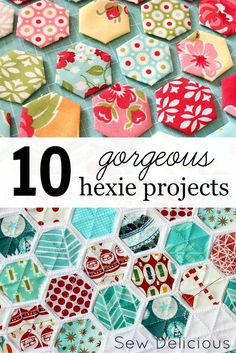 10 hexie projects for those who love #hexagons