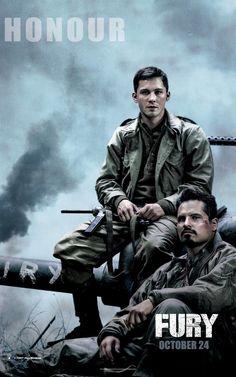 3 new banners for Fury, feat. Brad Pitt, @LoganLerman, @thecampaignbook, Jon Bernthal & @realmichaelpena