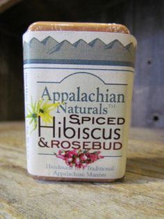 Appalachian Naturals - Spiced Hibiscus Rosebud Natural Soap, $5.95 (http://www.appalachiannaturalsoap.com/spiced-hibiscus-rosebud-natural-soap/)