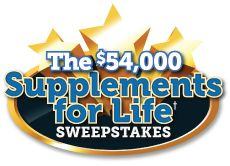 I won free supplements in the $54,000 Life Extension Supplements for Life Sweepstakes. Enter Daily until October 23rd for your chance to win.