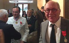 La légion d'honneur remise à Emmanuel Renaut et René Meilleur, une distinction de plus pour ces 2 chefs trois étoiles.