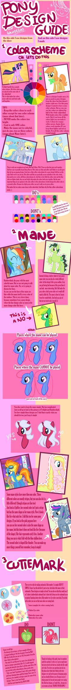 Pony Design Guide by Looji.deviantart.com on @DeviantArt