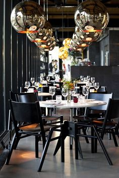 Tom Dixon lights Restaurant at Portobello Docks, London