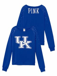 """""""PINK"""" University of Kentucky sweatshirt. Great way to support your team while being comfortable & stylish!"""