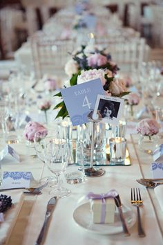 love the idea for the place cards & table settings