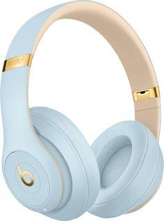 Beats By Dr Dre Studio 3 Wireless Headphones - Beats Skyline Collection, Crystal - Blue - Beats Studio, Beats By Dre, Cute Headphones, Over Ear Headphones, Headphones Beats, Noise Cancelling Headphones, Bluetooth Headphones, Bluetooth Gadgets, Bluetooth Speakers