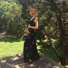 """Rather than keeping everyone guessing, model/actress Brooklyn Decker took to Instagram to announce her exciting news! The blond beauty, who is married to retired tennis star Andy Roddick, showed off her growing baby bump with the caption """"So this happened... #the3ofus"""" on May 2, 2015."""