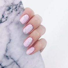 Pisces: Baby Pink Marble - Horoscope Nail Art Ideas Perfect For Each Zodiac Sign - Photos