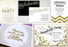 Glitter and Glam Bridal Shower Ideas | Bachelorette | Glitter & Glam party