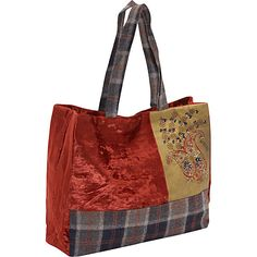 Moyna Handbags Velvet Bag With Sequin & Glass Beads Rust - Moyna Handbags Fabric Handbags