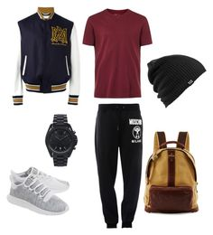 """""""Untitled #1"""" by evangeline0414 ❤ liked on Polyvore featuring Topman, Moschino, adidas Originals, Alexander McQueen, Michael Kors, Will Leather Goods, Burton, men's fashion and menswear"""