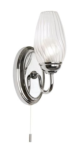 Pereti Chrome Effect Single Wall Light Lounge lighting Lights