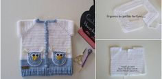 Illustrated Narrated Owl Crochet Baby Vest Model Making - Babyzimmer Ideen Crochet Baby Jacket, Baby Girl Crochet, Crochet For Boys, Baby Blanket Crochet, Apple Decorations, Diy Party Decorations, Decoration Table, Baby Owls, Baby Boy