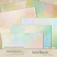 Textured Watercolor Paper Pack 1