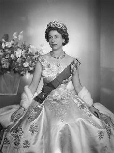 1956. Queen Elizabeth II by Dorothy Wilding whole-plate film negative, 1956