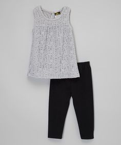 Another great find on #zulily! Gray Top & Leggings - Girls #zulilyfinds