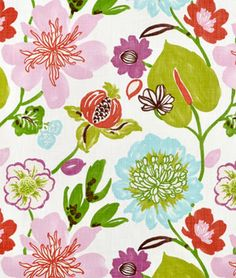 Braemore Gorgeous Petal Fabric, beautiful for a pink, green, purple or blue bedroom
