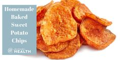 These easy homemade baked sweet potato chips are salty and crispy and make the perfect snack. Learn more on how to make healthy snacks with Grenga Health. Homemade Sweet Potato Chips, Sweet Potato Cookies, Gourmet Recipes, Whole Food Recipes, Snack Recipes, Lamb Cake, Healthy Potatoes, Healthy Snacks, Healthy Recipes