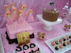 Party Tables cookies cake pops cakes