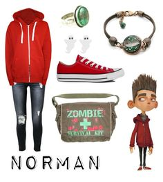 """""""Norman from Paranorman"""" by krusi611 ❤ liked on Polyvore featuring 7 For All Mankind, WearAll and Converse"""