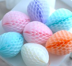 Honeycomb easter eggs decoration  set / easter by DecoHoneycombs