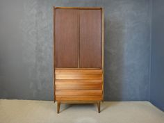Mid Century Lane Walnut Highboy/Armoire by retrocraftdesign Armoire, Mid Century, Cabinet, Bedroom, Trending Outfits, Storage, Awesome, Etsy, Furniture