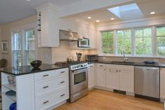Kitchen Renovation, Northampton, MA. Design by Robert Walker.