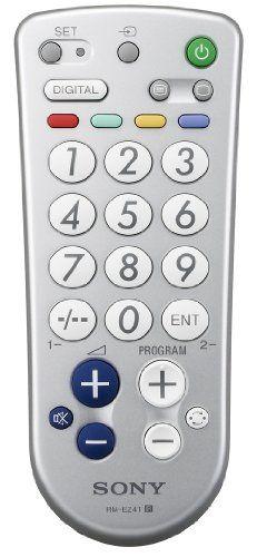 Sony RMEZ4T.CE7 – Mando a distancia sencillo, con botones grandes para TV y teletexto -  http://tienda.casuarios.com/sony-rmez4t-ce7-mando-a-distancia-sencillo-con-botones-grandes-para-tv-y-teletexto-color-plata/