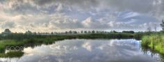 Dutch mirror - hdr 6 photo's made a panorama out of it. Holland rijssen
