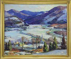 Lot 1028. ALDRO THOMPSON HIBBARD (American, 1886 - 1972) WEST RIVER VALLEY, VT (27280)