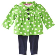 JUST ONE YOU Made by Carters Infant Girls 3 Piece Cardigan Set - Green/Navy $16