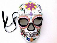 Brown sugar skull wire bandeau mini calaveras day of the dead rockabilly pin up