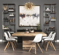 108 best contemporary dining rooms images in 2019 lunch room rh pinterest com modern dining table setting decoration ideas modern dining table centerpiece ideas