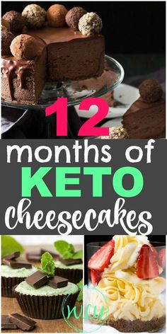Diet Recipes 12 low carb and keto cheesecake recipes that are so yummy and easy! You'll find recipes for keto no bake cheesecake, easy low carb cheesecake, cheesecake fat bombs, and more! Keto cheesecakes made the perfect holiday dessert! Keto Friendly Desserts, Low Carb Desserts, Healthy Desserts, Dessert Recipes, Diet Recipes, Keto Desert Recipes, Ketogenic Recipes, Low Carb Cheesecake Recipe, Cheesecake Fat Bombs