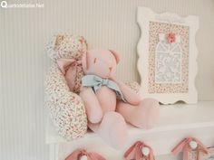 ursinho tecido floral