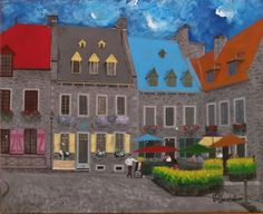 Place Royale by L Gaudet on Etsy. Visit lgaudetart.ca to view more paintings.