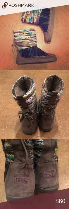 Toms Nepal snow boots 🦄☃️ Cozy comfort for my little snow bunnies out there! Only worn a twice...as close to new as it gets 💕 Toms Shoes Winter & Rain Boots