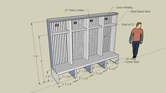 Wooden lockers being installed in the mudroom of a bungalow style house. Mudroom Cubbies, Mudroom Laundry Room, Mudroom Bench Plans, Basement Bathroom, Sports Locker, Diy Locker, Locker Ideas, Wooden Lockers, Small Lockers