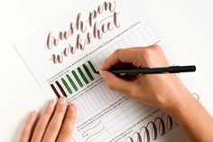 Free Brush Pen Calligraphy Worksheet and Excellent Demo Video!| The Postman's Knock